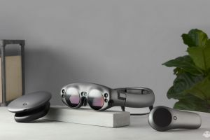 The Magic Leap One comprises a headset, processor box and a controller.
