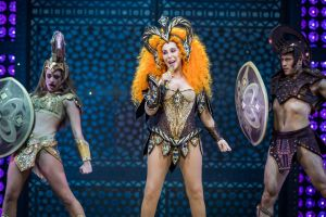 When in Rome: Cher struts her stuff on the Qudos stage.