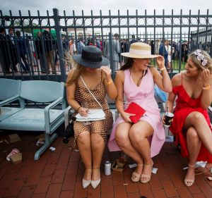Ladies dressed in refreshing sorbet colours at 2018 Caulfield Cup.