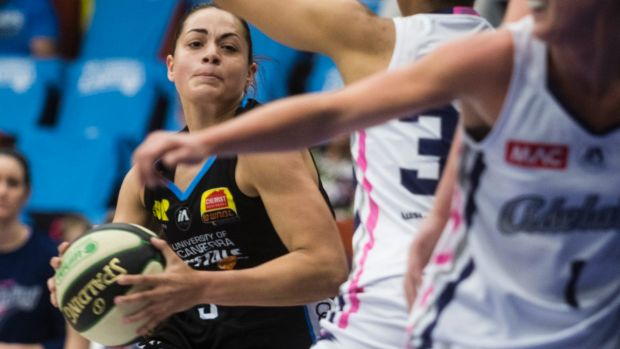 WNBL: Canberra Capitals Vs Adelaide Lightning 2018. Canberra's Maddison Rocci attempts to shoot the ball. Photo: Dion ...
