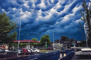 boagshoags photographed mammatus clouds over Dickson after Friday's storm.