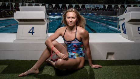 All business: With her schooling complete, Ariarne Titmus is ready to take her swimming to new heights.