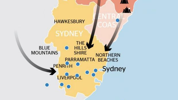 How pollution from coal-fired power stations ends up reaching Sydney.