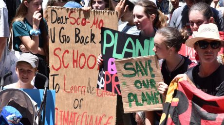 Hundreds of WA students protested outside Parliament House on Friday, voicing their concern over government climate ...