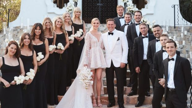 Karl Stefanovic, and Jasmine Yarbrough, were married today at the One & Only Palmilla resort in Cabo Mexico.