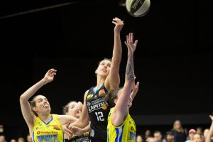 The Canberra Capitals' Marianna Tolo made a triumphant return to WNBL.