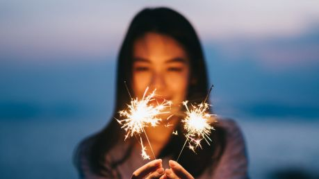 It's just me ... I'll take two sparklers, thanks.
