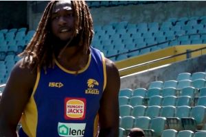 Eagles ruckman Nic Naitanui is on track to return in round 15 next season, the club says.