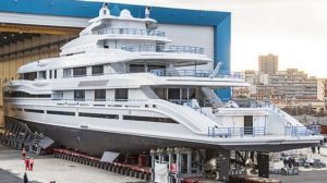 James Packer's new $200 million weekend runabout has finally been unveiled in Italy.