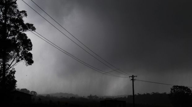 """Storm warnings were downgraded from """"dangerous"""" to """"severe"""" on Friday afternoon."""