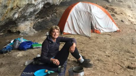 Francisca Boterhoven De Haan at a campsite she and William McCarthy set up during their six nights in Morton National ...