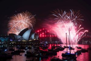 The 9pm fireworks on New Years Eve in Sydney on December 31, 2018. Photo: Dominic Lorrimer