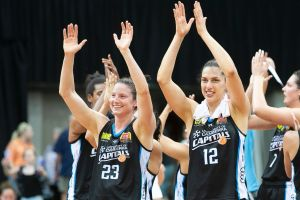 Socials for print 8th January. Canberra Capitals co-captains Kelsey Griffin and Marianna Tolo.