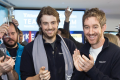 Atlassian founders Mike Cannon-Brookes and Scott Farquhar after listing on the NASDAQ.