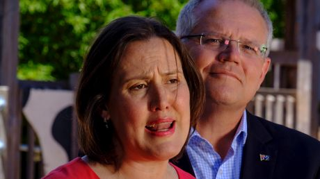 Minister Kelly O'Dwyer, with Prime Minister Scott Morrison, announcing her decision not to stand at the next election.