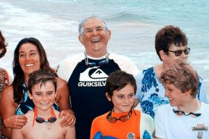 The Ballesty family have a tradition of swimming the Cole Classic together.