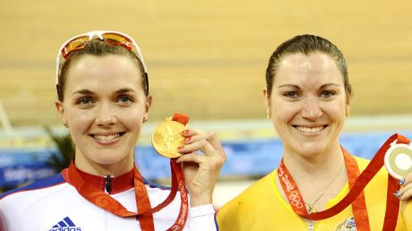 Rivalry: Victoria Pendleton, left, and Australia's Anna Meares at the 2008 Beijing Olympics.