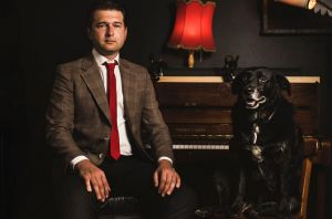 Former Australian Sex Party ACT leader Steven Bailey with his female dog Bruce, opens up about his struggles with mental ...