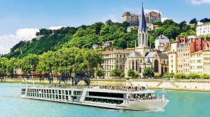 Evergreen Cruises sails into Lyon in France.