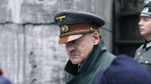 Adolf Hitler (Bruno Ganz) emerges from the bunker in a scene from Downfall.