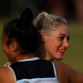 Tayla Harris starred for the Blues on Saturday but may miss the next game.