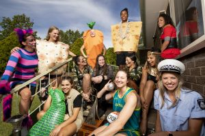 The Canberra Capitals enjoy Silly Sunday after winning the WNBL championship.