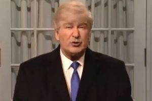 Alec Baldwin as Donald Trump in Saturday's episode of SNL.