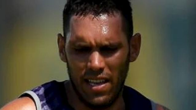Harley Bennell at Fremantle training this month. The controversial Dockers recruit has again injured his calf.
