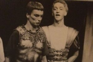 John Bell and Arthur Dignam in Coriolanus at Sydney University.