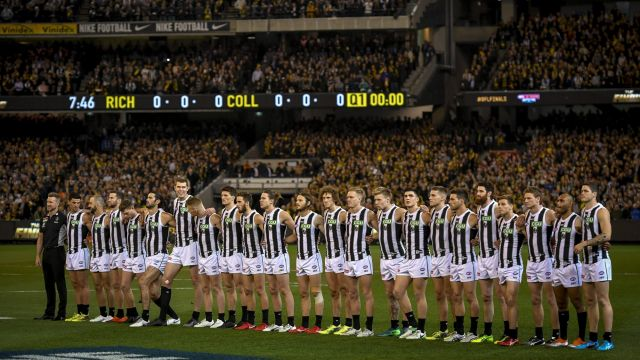Last season's preliminary final between Collingwood and Richmond at the MCG was about 6000 people short of capacity ...