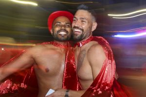 SMH NEWS: Celebrations at the 2019 Gay and Lesbian Mardi Gras during the parade in Sydney. Photo: James Alcock.