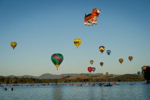 Canberran's support the popular hot air balloon festival, the Canberra balloon spectacular on Monday 11th March 2019, ...