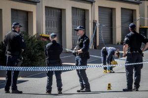 ACT police officers investigate a suspicious death of a 56 year old man in Hall Best lane, Gungahlin.
