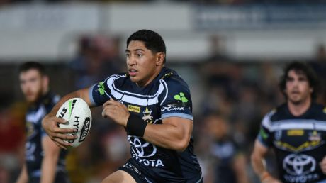 Big blow: Jason Taumalolo won't be running the ball up again for the Cowboys until mid-season.