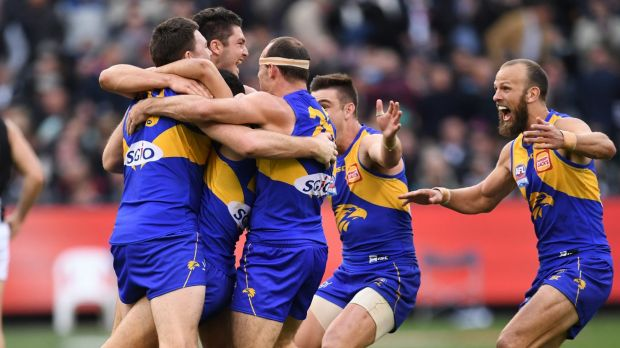 West Coast players celebrate their 2018 premiership... can they go back-to-back in 2019?