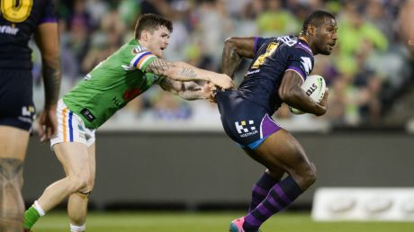 Storm's Suli Vunivalu scored another hat-trick of tries.