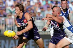 Fyfe was elite against the Roos, his 32 touches including eight intercepts, 13 score involvements, five centre ...
