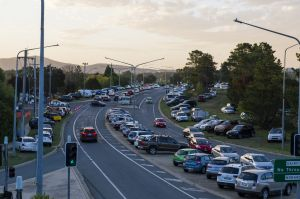 Diary Road, Fyshwick was littered with cars due to limited parking options at The Forage.