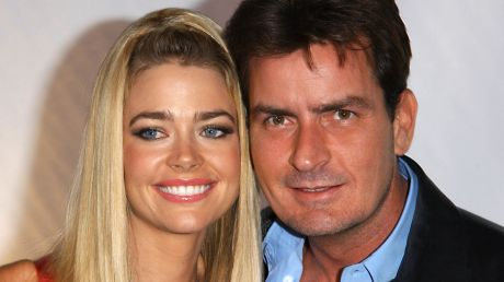 Denise and ex-husband Charlie Sheen.