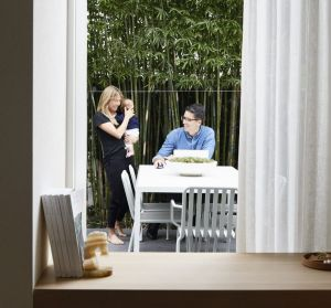 """""""We planted clumping bamboo to screen the eastern boundary – now it's a private little urban oasis,"""" says Kristiina. The ..."""