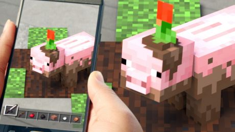 Find a muddy pig out in the world, and bring it back to your plate to insert it into your build.