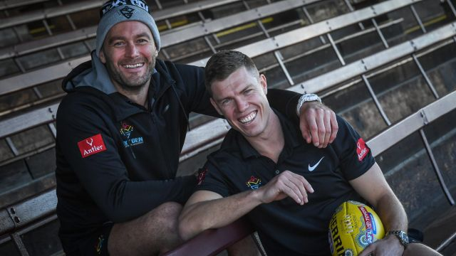 Tom Bellchambers and Jake Melksham may not be teammates anymore, but they are still good friends.