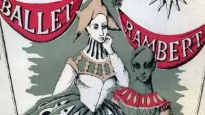 Cover of a Ballet Rambert in Australia program, with illustration by Loudon Sainthill.