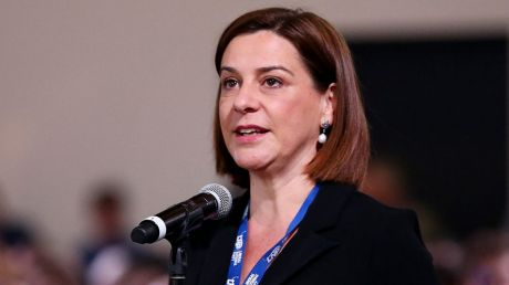 Opposition Leader Deb Frecklington has her considered stance down to a science.