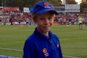 Daniel Wilmering, Wanderers defender as a ballboy for the club.