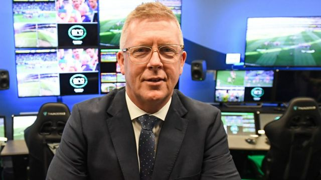 AFL football operations boss Steve Hocking poses for a photo during a press conference at the new AFL Review Centre ...