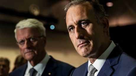 Wesfarmers chairman Michael Chaney (left) and CEO Rob Scott.
