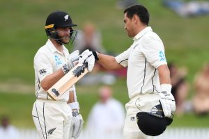 Ross Taylor (right) and Kane Williamson are a formidable partnership for New Zealand.