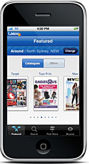 Keeping watch ... Lasoo's iPhone app shows offers from retailers.