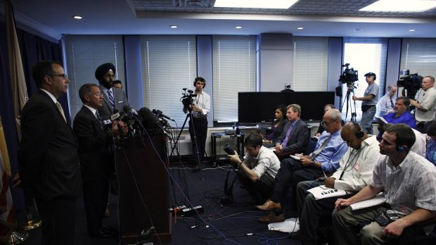 New Jersey Attorney Paul J. Fishman announces that US prosecutors have charged five foreign nationals in what is ...